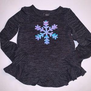 Sonoma Flip Sequin Snowflake Sweater w/Ruffle 7
